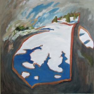 "Untitled (Terre Sauvage,Winter No. 2), 2015 oil on panel 48""x48"""