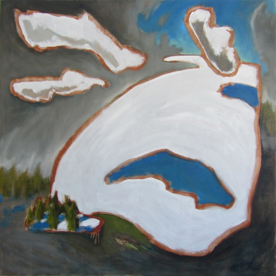 """Untitled (Terre Sauvage,Winter No. 4), 2015 oil on panel 48""""x48"""""""