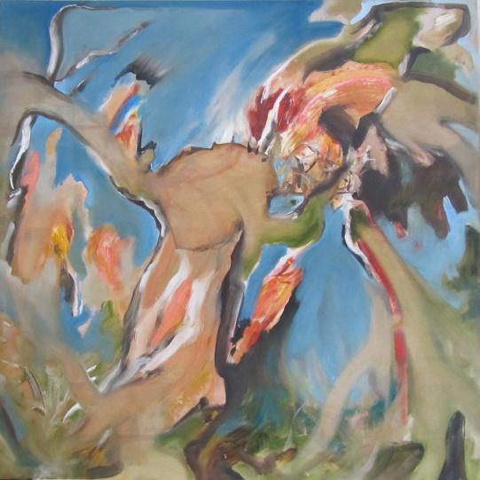 "Untitled (Nest), 2015 oil on panel 48""x48"""