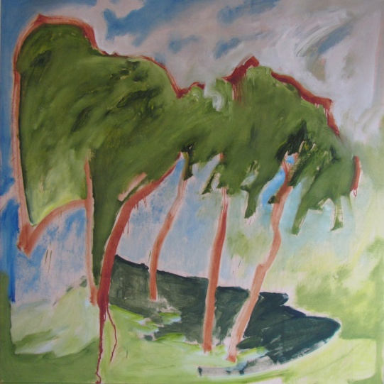 """Untitled (Fast Copse), 2015 oil on panel 48""""x48"""""""