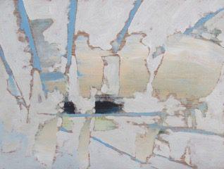 "John Climenhage - Disruption/Parallax Series, 6""x8"", oil on board, 2018)"