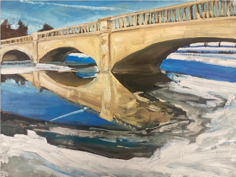 Inverlea Bridge, Peterborough by John Climenhage