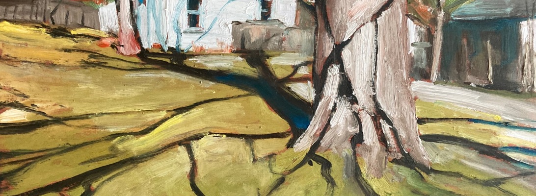 "Antrim Street by John Climenhage, 2020 oil on panel 12""x16"""