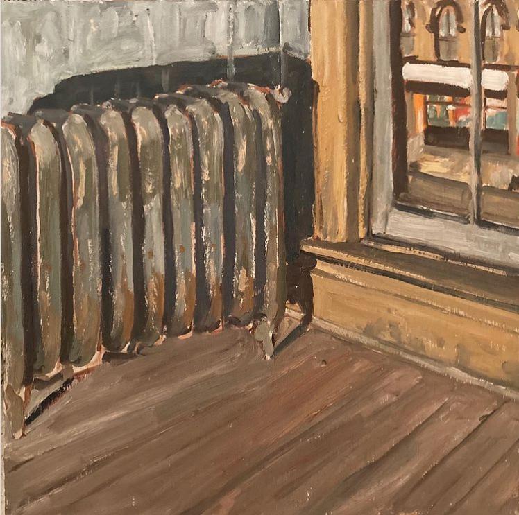 "Studio above The Spill by John Climenhage 2001-2005 oil on panel 8""x 6"""