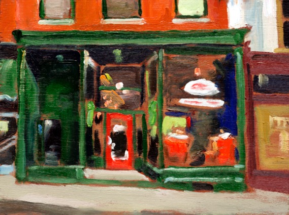 "Sapphire Room by John Climenhage, 2001-2005 oil on panel 8""x6"""