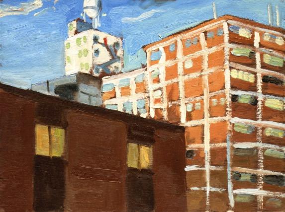 "Quaker by John Climenhage, 2001-2005 oil on panel 12"" x16"""
