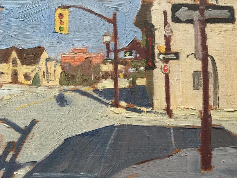 """Trasheteria by John Climenhage, 2002-2003 oil on panel 6""""X 8"""""""