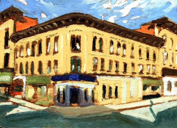 "Shadow, George by John Climenhage, 2005 oil on panel 12""X 16"""