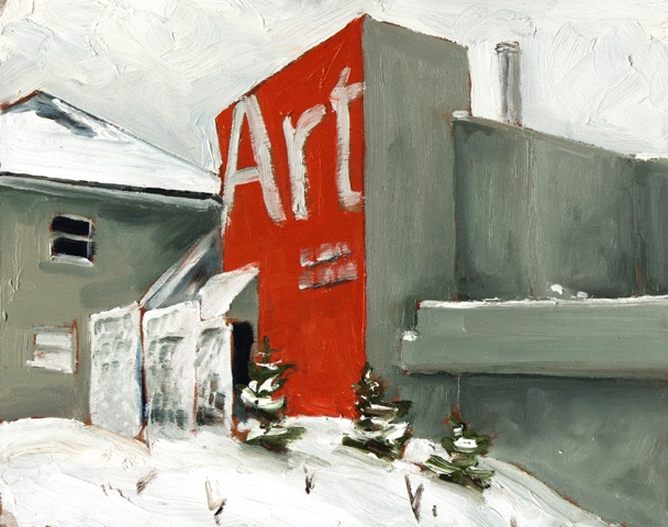 """Art Gallery of Peterborough by John Climenhage, 2020 oil on panel 12""""X16"""""""